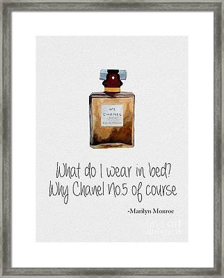 What Do I Wear In Bed? Framed Print by Rebecca Jenkins