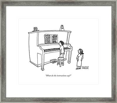 What Do The Instructions Say? Framed Print