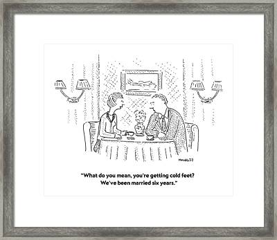 What Do You Mean Framed Print by Robert Mankoff