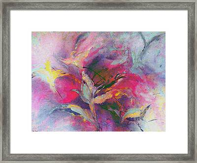 Framed Print featuring the painting What Do You See by Lisa Kaiser