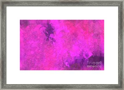 What Do You Want Pink Framed Print