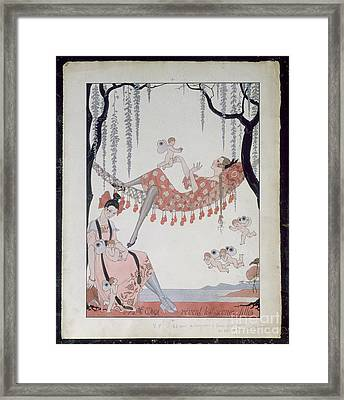 What Do Young Women Dream Of? Framed Print by Georges Barbier