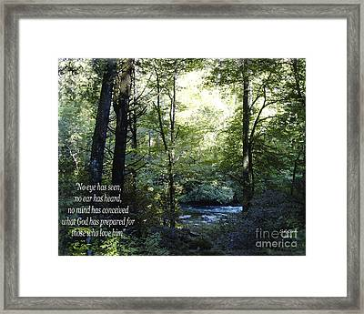 What God Prepares Framed Print