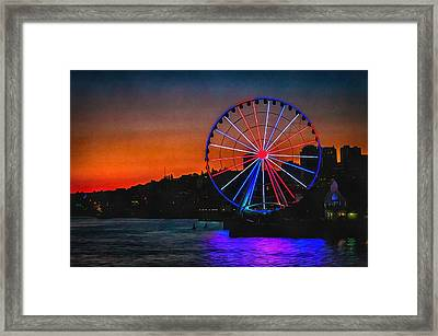 What Goes Up Framed Print by CarolLMiller Photography