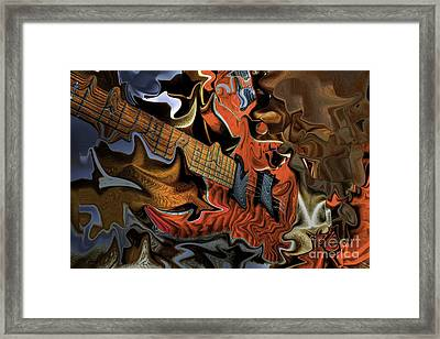What Happened Last Night Digital Guitar Art By Steven Langston Framed Print by Steven Lebron Langston