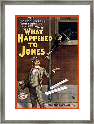 What Happened To Jones Framed Print