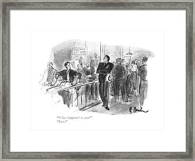 What Happened To You?  Eyes Framed Print