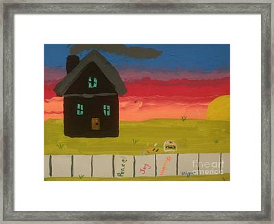 What Home Means To Me Framed Print