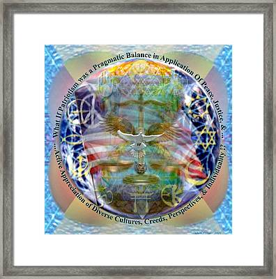 What If Balance Was Patriotism Framed Print