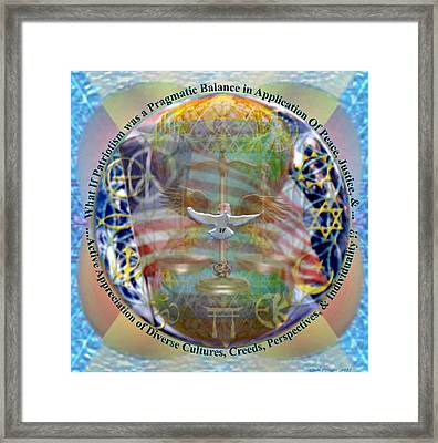 What If Balance Was Patriotism Lrg Framed Print