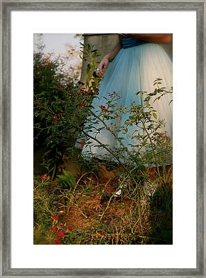 What If I Should Fall Right Through The Center Of The Earth Framed Print by Tracy  Tanner