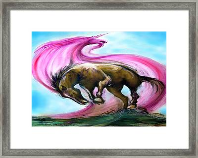 Framed Print featuring the painting What If... by Kevin Middleton