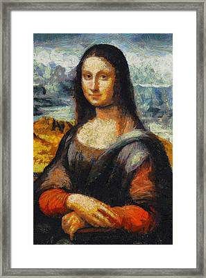 Framed Print featuring the painting What If Vincent Van Gogh Had Painted Mona Lisa? by Kai Saarto