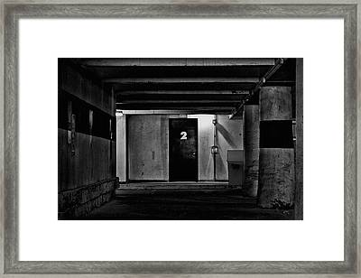 What Is Behind Door Number Two Framed Print