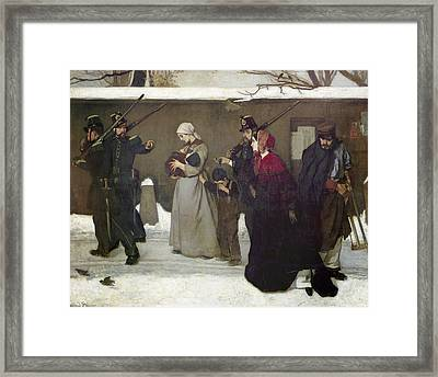 What Is Called Vagrancy Or, The Hunters Of Vincennes, 1854 Oil On Canvas Framed Print by Alfred Emile Stevens
