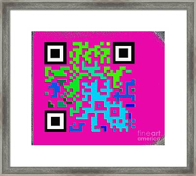 What Is Fine Art Quick Response  Framed Print by Contemporary Luxury Fine Art