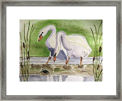 What Is It Framed Print by Angela Davies