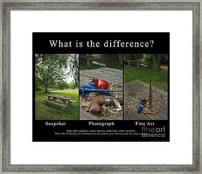 What Is The Difference Framed Print