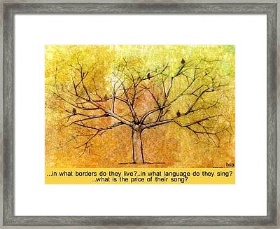 What Is The Price Of Their Song? Framed Print by Robert Stagemyer