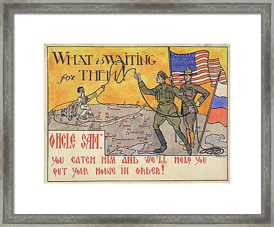 What Is Waiting For Them Framed Print by British Library