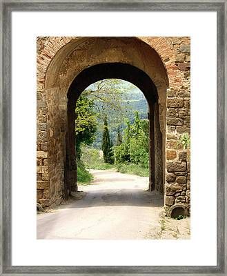 What Lies Ahead Framed Print by Ellen Henneke