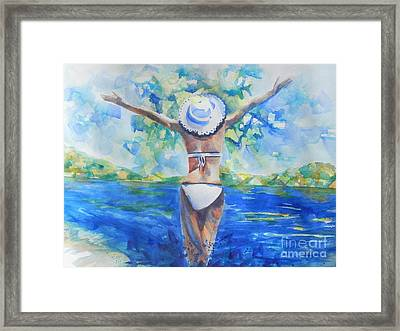What Lies Ahead Series Forgive Framed Print by Chrisann Ellis