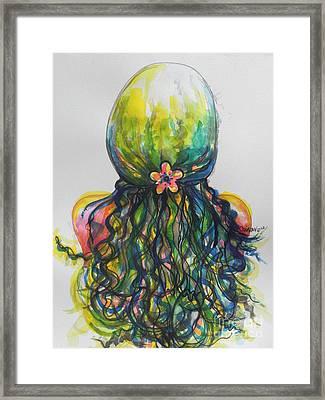 What Lies Ahead Series...tangled Up Framed Print by Chrisann Ellis