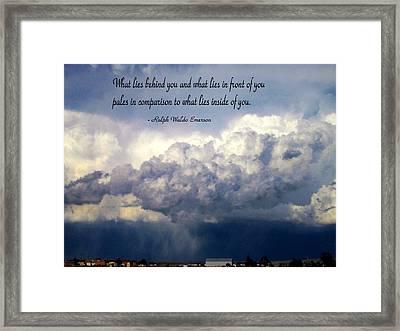 What Lies Behind You Framed Print