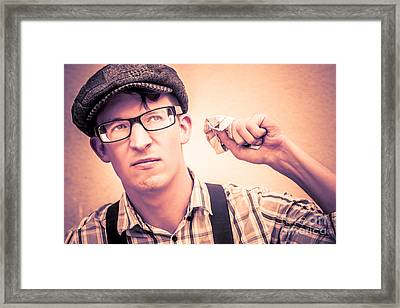 What Lies In Journalism Framed Print