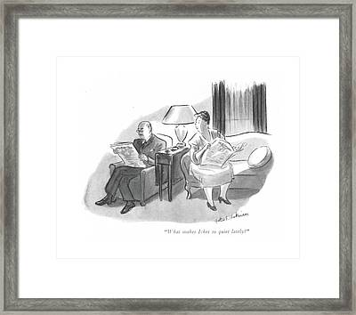 What Makes Ickes So Quiet Lately? Framed Print
