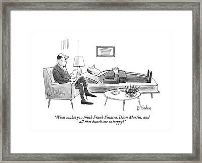 What Makes You Think Frank Sinatra Framed Print