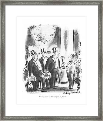 What Room Is The Banquet Framed Print by Whitney Darrow, Jr.