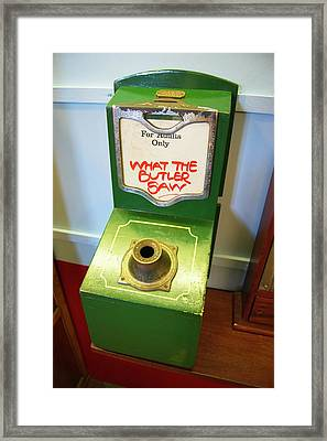 What The Butler Saw Machine Framed Print by Mark Williamson/science Photo Library