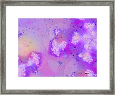 Framed Print featuring the digital art What The Starfish Saw by Elizabeth McTaggart