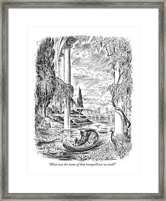 What Was The Name Of That Tranquilizer We Took? Framed Print