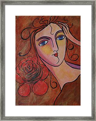 What Was Whispered To The Rose Framed Print