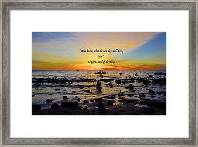 What Will The New Day Bring Framed Print by Venetia Featherstone-Witty