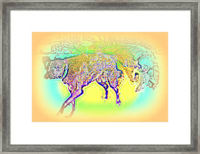 When We Wonder What Dogs Would Do They Just Do  Framed Print by Hilde Widerberg