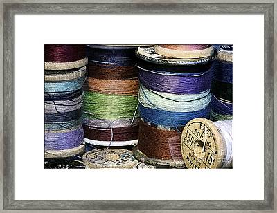 Spools Of Thread Framed Print by Jean OKeeffe Macro Abundance Art