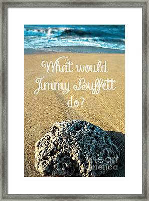 What Would Jimmy Buffett Do Framed Print