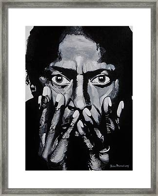 What Would Miles Say Framed Print by Brian Broadway