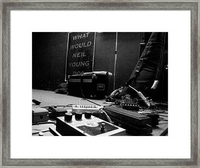 What Would Neil Young Do? Framed Print by Daniel Schubarth