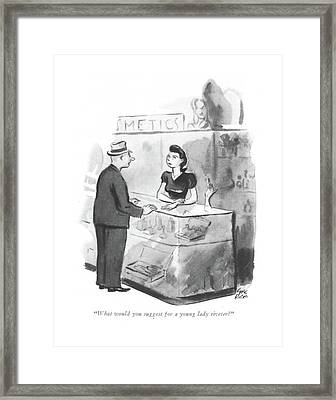What Would You Suggest For A Young Lady Riveter? Framed Print