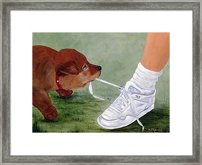 What Ya Gonna Do Framed Print by Kenny Francis
