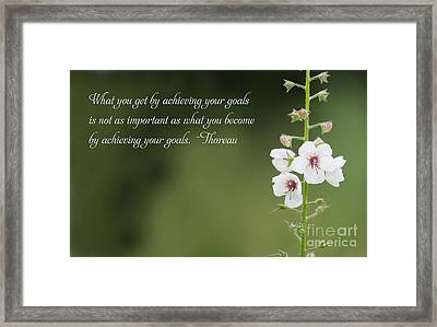 What You Become Framed Print