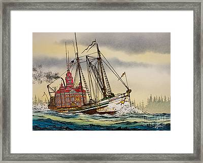 Whatcom Maritime Framed Print by James Williamson
