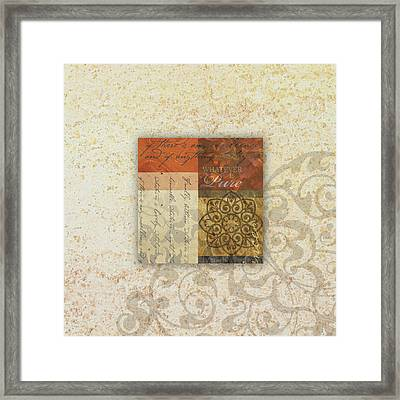 Whatever Is Pure Framed Print