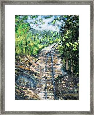 What's Around The Bend? Framed Print