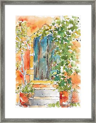 What's Behind That Door? Framed Print by Pat Katz