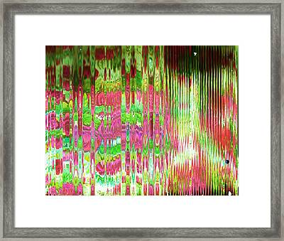 What's Behind The Screen Of Pink And Green  Framed Print by Anne-Elizabeth Whiteway